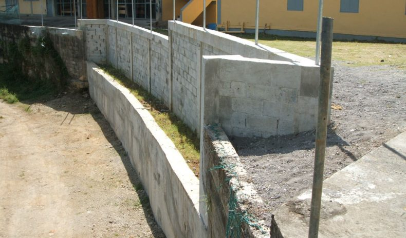 Grand Bay Youth Centre Retaining Wall